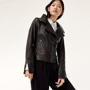 Mackage Kenya Black Leather Motorcycle Jacket